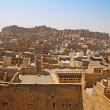 View over Jaisalmer city and fort in India — Stock Photo