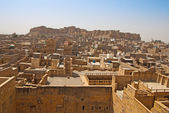 Uitzicht over jaisalmer stad en fort in india — Stockfoto