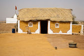Indiánská vesnice — Stock fotografie