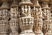 Ranakpur Jain Temple Carvings in India — Foto de Stock