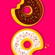 Two donuts — Stock Vector