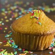 Stock Photo: Celebration muffin