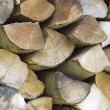 Foto de Stock  : Wood background brown horizontal pile