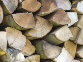 Wood background brown horizontal pile — Stock Photo