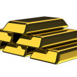 Gold Bars on white background — Stock Photo