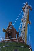 Crane against the blue sky — Stock Photo