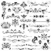 éléments décoratifs floraux — Vecteur