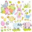 Collection of Easter elements — Stock Vector