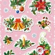 Set of decorative christmas elements — Imagen vectorial