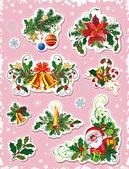 Set of decorative christmas elements — Stock Vector