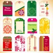 Holiday tags — Vector de stock