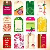 Holiday tags — Stock Vector
