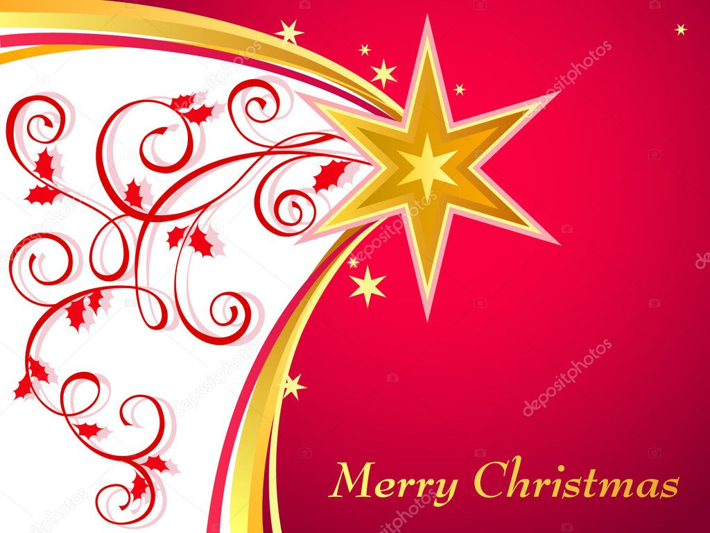 Christmas background with comet  Stock Vector #8185810