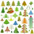 Set of christmas trees — Stock Vector #8212676