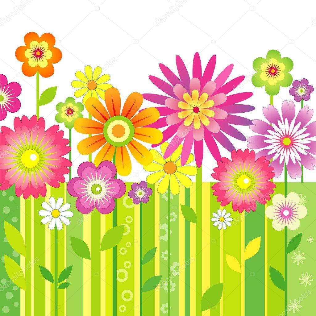 Цветы в векторе картинки 1
