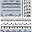 Decorative borders — Stok Vektör #8582252