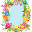 Summer frame - Stock Vector