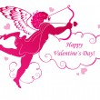 Valentines Day card - Imagens vectoriais em stock