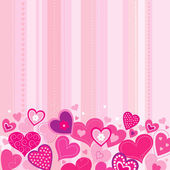 Valentines background with hearts — Stock Vector
