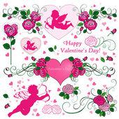 день святого валентина набор — Cтоковый вектор