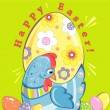 Easter greeting card — Stock Vector #9179696