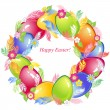 Easter wreath — Stock Vector