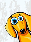 Funny cartoon dachshund dog — Stock Vector