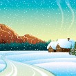 Winter landscape — Vector de stock #8132294