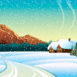 Vector de stock : Winter landscape