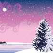Royalty-Free Stock Vector Image: Wintry night landscape