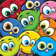 Vector de stock : Cartoon birds