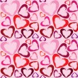 Royalty-Free Stock Vector Image: Wallpaper with hearts
