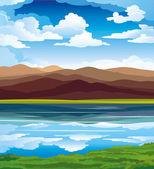 Krajobraz wektor — Wektor stockowy