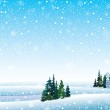 Vector winter landscape — Stock Vector