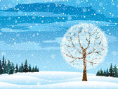 Winter nature — Stock Vector