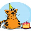 Royalty-Free Stock Vector Image: Cat and cake