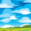 Stock Vector: Group clouds