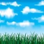 Vector green grass — Stock Vector