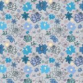 Květina modrá tapeta — Stock vektor