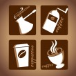 Vector set with coffe theme — Stock Vector