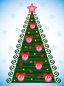 Evergreen christmas tree — Stock Vector