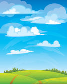 Green landscape — Stock Vector