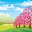 Pink trees — Stock Vector #8545295