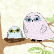 Royalty-Free Stock Imagem Vetorial: Cartoon owl