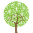 Green tree — Stock Vector #8560277