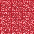 Red Christmas wallpaper — Stock Vector