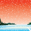 Vector winter landscape — Stock Vector #8560561