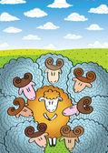 Love sheeps 03 — Stock Vector