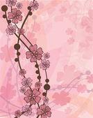 Roze bloemen 01 — Stockvector