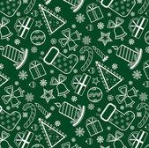 Green Christmas wallpaper — Stock Vector